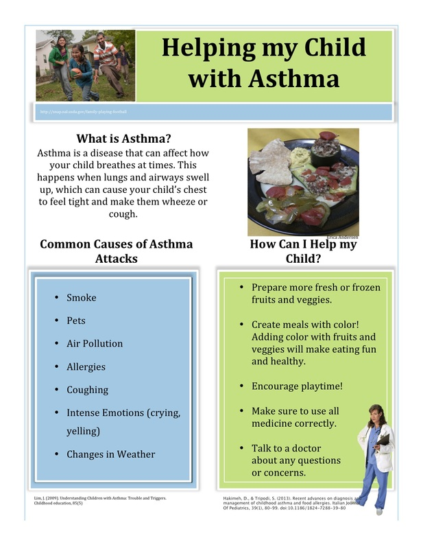 Educational handout erica dail for Asthma brochure template